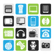 Silhouette multimedia and technology icons — Stock Vector #50565707