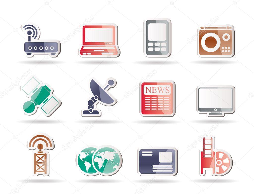 技术通信图标-矢量图标集
