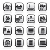 Communication and technology equipment icons — Stock Vector