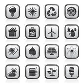 Ecology, nature and environment Icons — Vector de stock