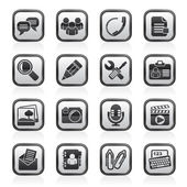 Chat Application and communication Icons — Vetorial Stock