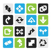 Silhouette different kind of arrows icons — Stockvector