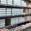 Stock Photo: Grocery Store Dairy Shelves