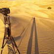Stock Photo: Photographer Shadow in Sand Dunes
