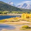 Grand Teton Mountain in Autumn — Stock Photo