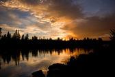 Gün batımında snake river — Stok fotoğraf