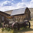 Rustic Old West Barn and Wagon — Stock Photo #13251986