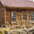 rustic old west house in a ghost twon — Stock Photo