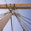 Tall Ship Boom and Mast — Stock Photo