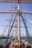 Masts on a Tall Sailing Ship — Stock Photo
