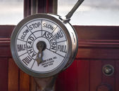 Engine Order Telegraph — 图库照片
