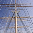 Masts on a Tall Ship — Stock Photo