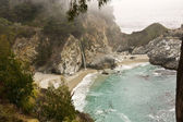 Cove and Waterfall at Big Sur — Stok fotoğraf