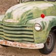 An Old Green Truck on Route 66 — Stock Photo