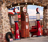 Route 66 Old School Gas Station — Stock Photo
