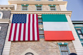 Irish American Flags — Stock Photo