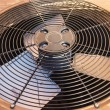 HVAC Condenser Fan Close Up — Stock Photo