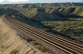 Desert Railroad Scene — Stock Photo