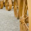 Stock Photo: Steel Wagon Wheels
