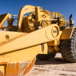 Stock Photo: Caterpillar Wheel Tractor Scraper