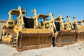 Markarbeten bulldozrar — Stockfoto