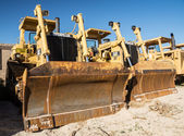 Bulldozer Blades — Stock Photo