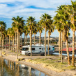 RV Camping at Laughlin, Nevada - Stock Photo