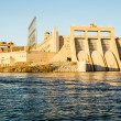 Davis Dam on the Colorado River — Stock Photo