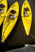 Yellow Kayaks — Stock Photo