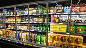 Grocery Store Beer Cooler — Stock Photo