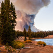 Постер, плакат: Forest Fire at Yellowstone Lake