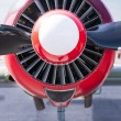 Stock Photo: Vintage Aircraft Engine Close Up