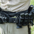 Stock Photo: Police Officers Tactical Belt