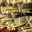 Stockfoto: Baseball Bat Racks