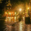 Night Lights in Old Town — Stock Photo