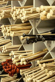 Baseball Bat Racks — Stock Photo
