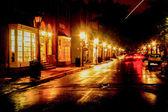Rainy Night Sky Streak — Stock Photo
