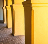 Colonnade at Mission Tumacacori — Stock Photo