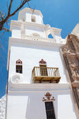 The Bell Tower at Mission San Xavier — Stock Photo