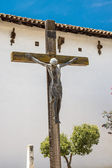 Crucifix at Mission San Miguel Arcangel — Stock Photo