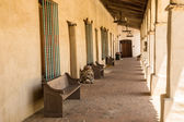 Colonnade at a Spanish Mission — Stock Photo