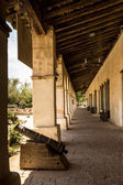 Spanish Mission Colonnade — Stock Photo