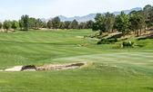 Exuberante del desierto de golf — Foto de Stock