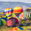 Hot Air Balloons Prepare for Lift-Off — Stock Photo