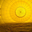 Abstract Patterns Inside a Hot Air Balloon — Stock Photo