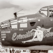 Stock Photo: Antique WWII Bomber