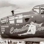 Antique WWII Bomber — Stock Photo