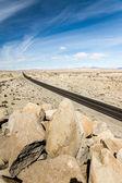 On a Long Desert Highway — Stock Photo