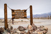 Manzanar Sign — Stock Photo