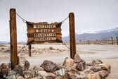 Manzanar Sign — Stock Photo